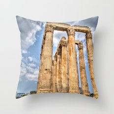 Temple of Zues Throw Pillow