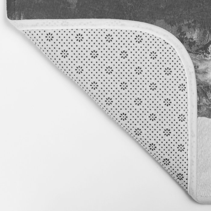 Black and White Ghost of Isolation Bath Mat
