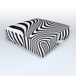 Abstract Optical Illusion Background Outdoor Floor Cushion