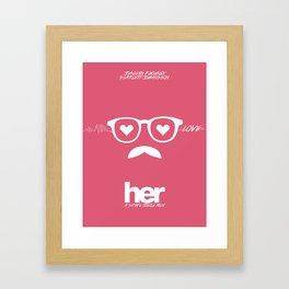 Minimalist Her Framed Art Print