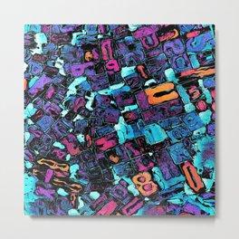 Pop Art Typeset Metal Print