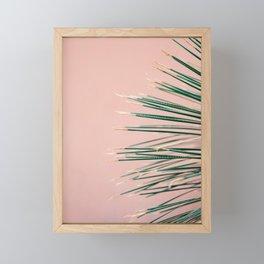 Green on Coral | Botanical modern photography print | Tropical vibe art Framed Mini Art Print