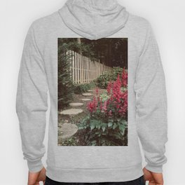 Tall Red Flowers & Path Hoody