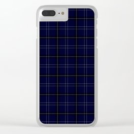 Navy Buffalo Plaid Clear iPhone Case