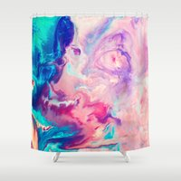 blush Shower Curtains featuring Blush by Kimsey Price