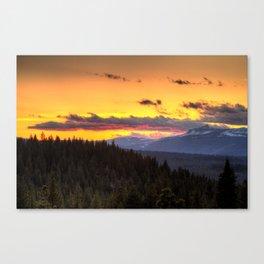 truckee sunset Canvas Print