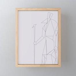 EGYPTIAN SYMBOL WASSCEPTRE Framed Mini Art Print