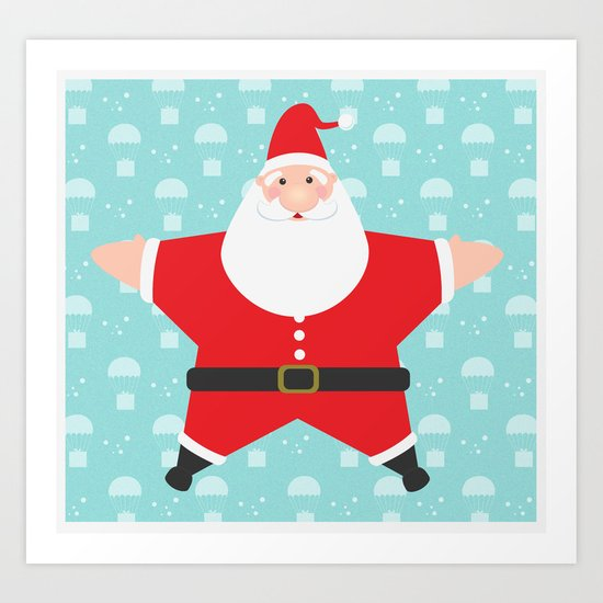 Santa Claus Starmas Art Print