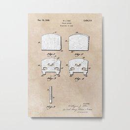 patent art Ake Violin Bridge 1948 Metal Print