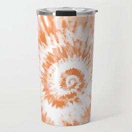 Light Orange Tie Dye Travel Mug