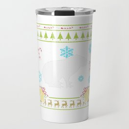Pet Capybaras Christmas Sweater Shirt Travel Mug