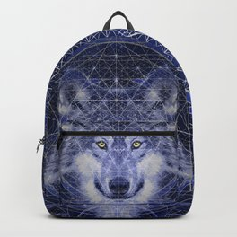 Wolf Geometry Backpack