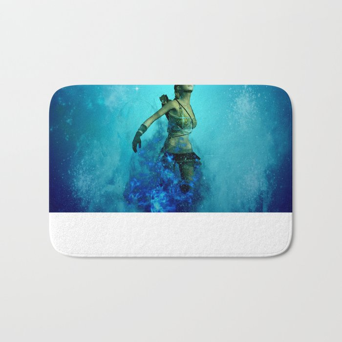 Fighter in the universe Bath Mat