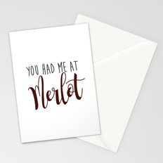 You had me at Merlot Stationery Cards