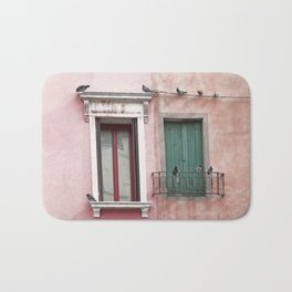 Venetian Windows and Pigeons Bath Mat