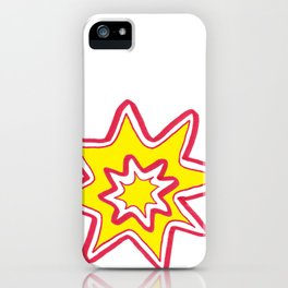 POW! - yellow, red, white iPhone Case