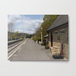 Darley Dale train platform v1 Metal Print