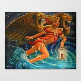 "Live Painting: ""Illumination of the Roaring Sea"" Canvas Print"