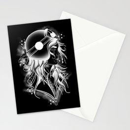 Bike girl Stationery Cards