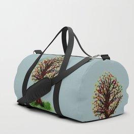 Grunge sketch of tree Duffle Bag