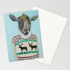 Sheep Wearing Deer Sweater  Stationery Cards