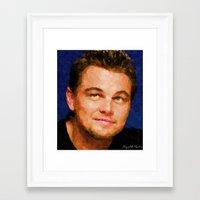 leonardo dicaprio Framed Art Prints featuring Hollywood - Leonardo DiCaprio by Miguel A. Martin