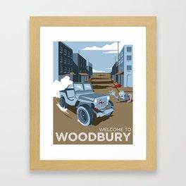 Welcome To Woodbury Framed Art Print