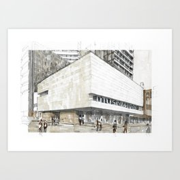Urban watercolor - Colombia Art Print