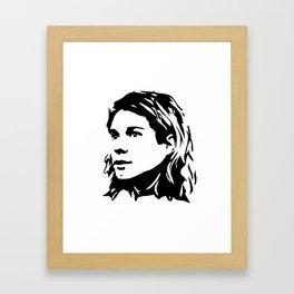 Portrait of Kurt Framed Art Print