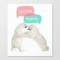 best friends Canvas Prints featuring best friends by Laura Graves