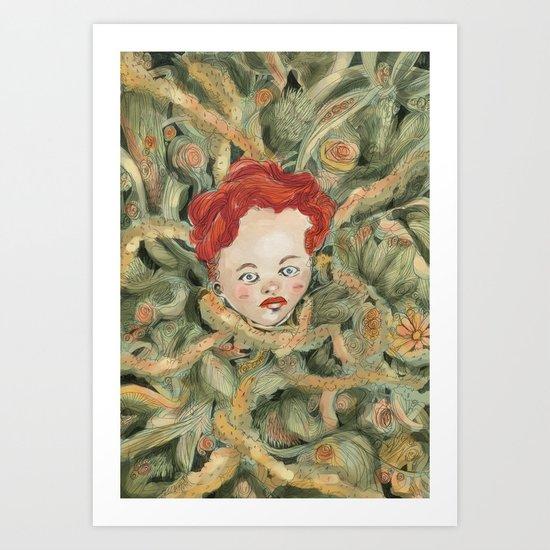 InRed Art Print