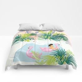 relaxing at resort Comforters