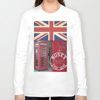 british flag Long Sleeve T-shirts featuring Very British by LebensART