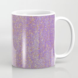 Elegant purple lavender faux gold glitter Coffee Mug