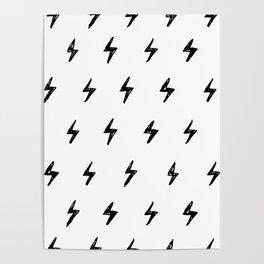 Lightning Bolt Pattern Poster