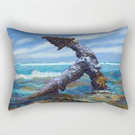 Shoreline Anchor - Charles Eaton Shipwreck Rectangular Pillow