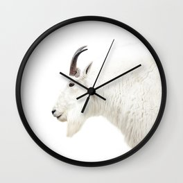 NORDIC MOUNTAIN GOAT Wall Clock