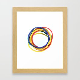 Several Stationery Rubbers Framed Art Print