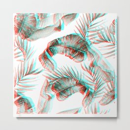 TROPICAL GLITCH Metal Print