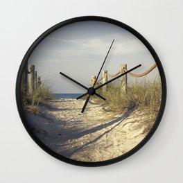 Steps from Paradise / Siesta Key Beach, Sarasota Florida Wall Clock