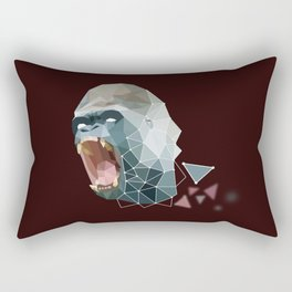 Low Poly Gorilla Rectangular Pillow