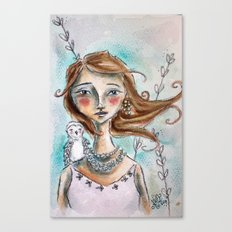 The Owl Whisperer Canvas Print