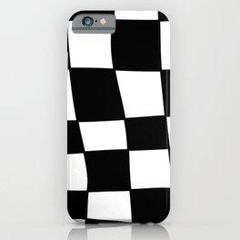 Swirly Checkerboard iPhone Case