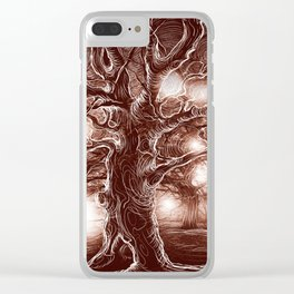 Brown Tree Clear iPhone Case