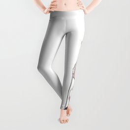 Cute Topless Upskirt Hentai Girl Ultra HD Leggings