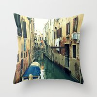 venice Throw Pillows featuring Venice by Mr and Mrs Quirynen