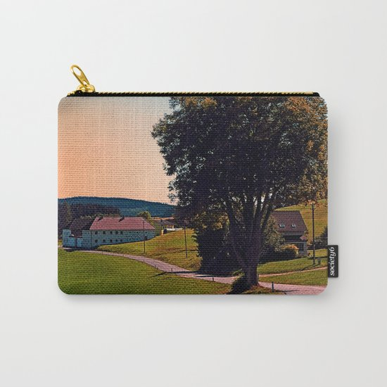 A tree, a road and summertime Carry-All Pouch