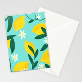Lemon Pattern Stationery Cards