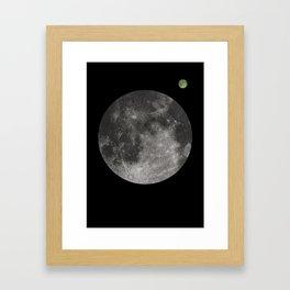 Moon - 1Q84 inspired. Clean Framed Art Print