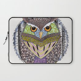 Poorly Camouflaged Owl Laptop Sleeve